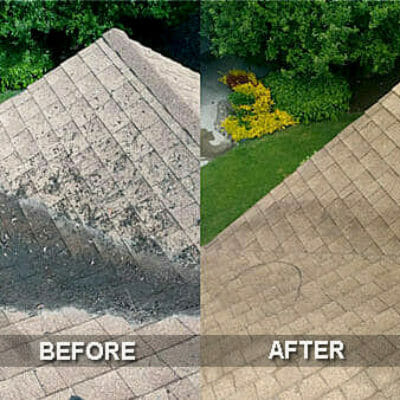 roof cleaning near me - roof washing - roof and gutter cleaning
